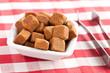 brown cubes of sugar