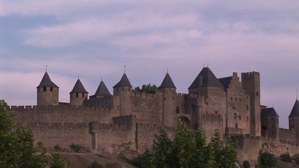 View of a castle in Crcassonne