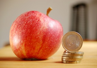 Apfel und Geld