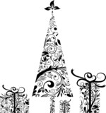 Christmas celements for design, vector