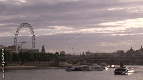 Panorama of London landmarks and Thames