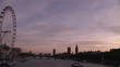 Panorama of London at sunrise