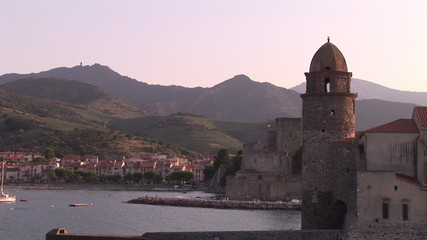 View of one part  of Collioure in the South of France