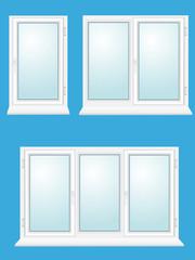 closed plastic glass window  illustration