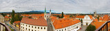 panoramic view of core city of Zagreb, Croatia poster