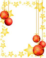 Cornice natalizia con decorazioni