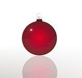 glossy red christmas ball