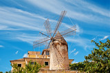 traditional windmill in palma, majorca