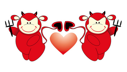 two devil and heart