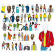 set of high quality vector silhouettes
