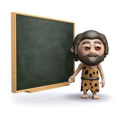 3d Caveman at school