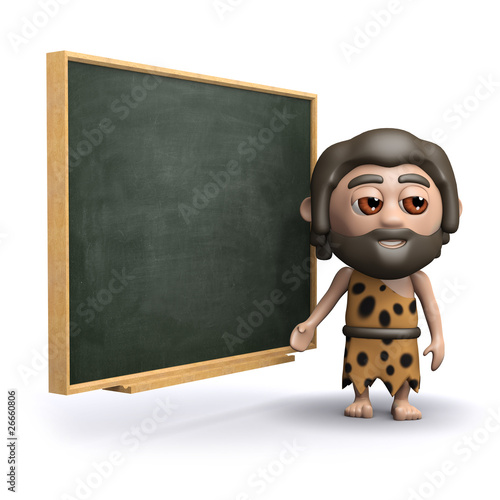 3d Caveman at school