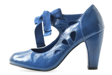 Female blue shoe | Isolated