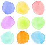 Fototapety watercolor dots