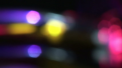 Close up of blurred lights during a party