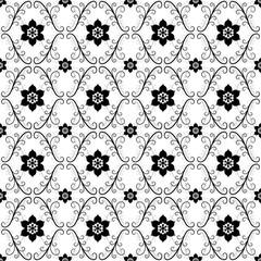 White-black vintage seamless pattern
