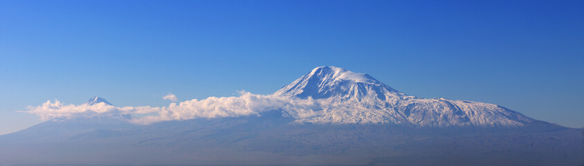 Amazing Panorama of Ararat Mountain