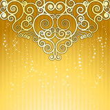 spiral Gold Background