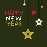 new year vector card