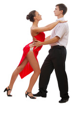 beautiful young dancing couple