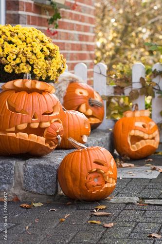 f nf halloween k rbisgesichter von klaus kaulitzki lizenzfreies foto 26666417 auf. Black Bedroom Furniture Sets. Home Design Ideas
