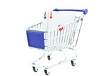 two poker aces in shopping trolley