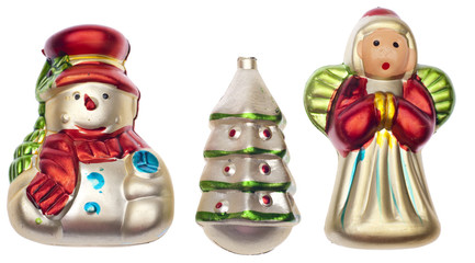 Group of Vintage Holiday Ornaments
