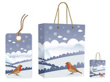 winter bag and tag set