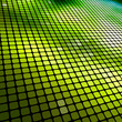 Abstract green 3D mosaic background.