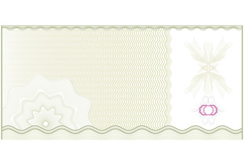 Gift voucher or Certificate template with guilloche patterns