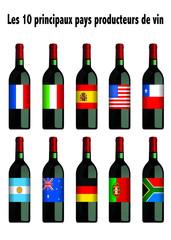Pays producteurs de vin