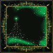 Green Christmas frame