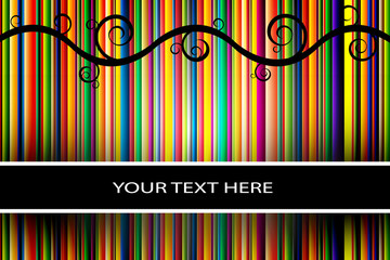 Vector stripe background/cover with space for text