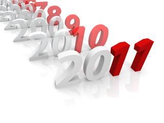 2011 in sequenza con effetto trasparente
