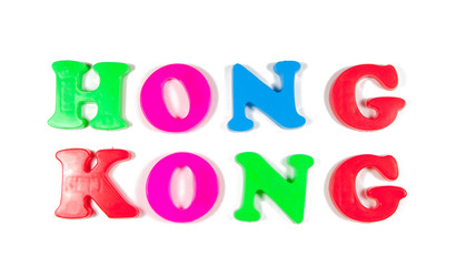 hong kong written in fridge magnets