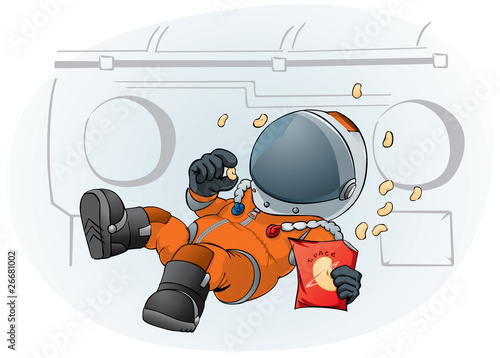 astronaut in the space ship - 26681002