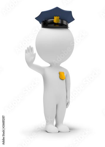 3d small people - policeman