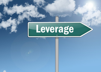 "Signpost ""Leverage"""