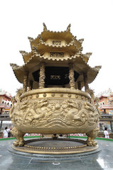 Huge golden incense burner