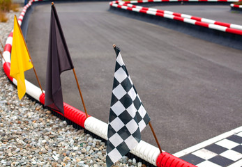flags on carting track