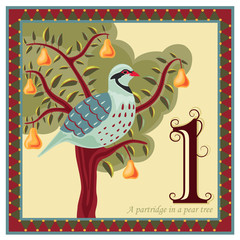 The 12 Days of Christmas - Partridge pear tree