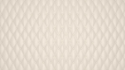 Beige Luxury buttoned leather pattern