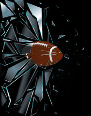 Broken Glass American Football Ball