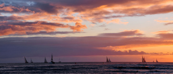 sailboats on the ocean hawaii honolulu