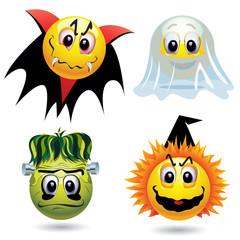 Smiley balls with Halloween mask