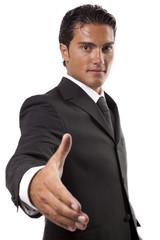 uomo d affari che dà fiducia