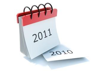 2011 calendar icon isolated on white