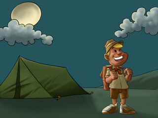the camp and the scout