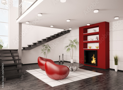 GamesAgeddon - Modern interior with sofa 3d render - Lizenzfreie ...