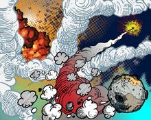 explosions spatiales